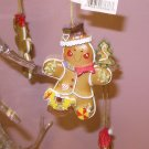 GINGERBREAD COOKIE MAN CHRISTMAS ORNAMENT NEW GANZ HOLIDAY TREE HOME DECOR