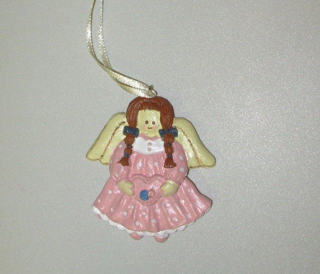 LITTLE REDHEAD MINI RESIN ANGEL CHRISTMAS ORNAMENT NEW GANZ HOLIDAY TREE HOME DECOR