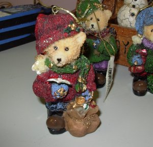 OLD FASHIONED LOOK TEDDYBEAR CHRISTMAS ORNAMENT NEW GANZ HOLIDAY DECOR