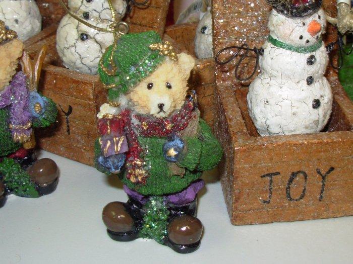 TEDDYBEAR CHRISTMAS ORNAMENT NOSTALGIC LOOK NEW GANZ