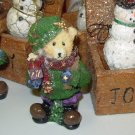 TEDDYBEAR CHRISTMAS ORNAMENT NOSTALGIC LOOK NEW GANZ
