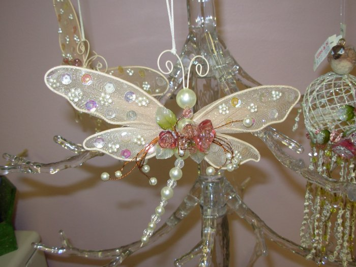 Victorian Look Christmas Ornaments Dragonfly New Ganz Home