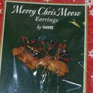 CHRISTMAS MERRY CHRIS MOOSE EARRINGS HOLIDAY JEWELRY NEW GANZ MOOSE AND CHRISTMAS LIGHTS