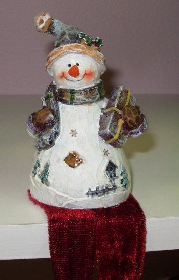 SNOWMAN SHELF SITTER CHRISTMAS NEW GANZ HOME HOLIDAY DECOR