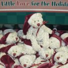 ITTY BITTY CHRISTMAS LOVES SMALL WHITE XMAS TEDDYBEAR IN STOCKING CAP NEW GANZ FAUX JOINTED BEAR