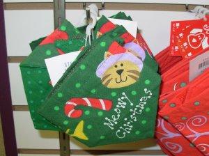 MEOWY CHRISTMAS SCARF FOR FURBABIES KITTY CAT XMAS XS NEW GANZ