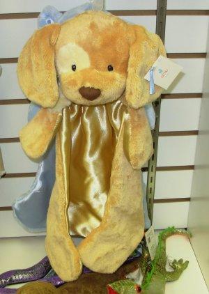 SPUNKY HUGGYBUDDY BROWN AND CREAM BABY GUND PUPPY DOG  MACHINE WASHABLE LOVEY