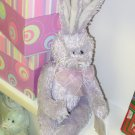 LAVENDER RUFFLES BUNNY PLUSH STUFFED ANIMAL RABBIT NEW GANZ EASTER BASKET STUFFER