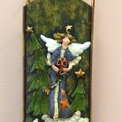 CHRISTMAS HOLIDAY HOME DECOR SLED WALL HANGING WITH ANGEL NEW GANZ