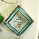 AFFIRMATION ORNAMENT SUNCATCHER FOLLOW YOUR HEART NEW GANZ HOME DECOR GLASS METAL