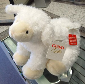 GUND LAMB MUSICAL GRACIOUS WAGGIE PLUSH STUFFED ANIMAL WINDUP PLAYS JESUS LOVES ME NEW WITH TAGS