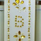 INITIAL  JEWEL STICKERS BY GANZ PEEL AND STICK NEW LETTER B GOLD AND WHITE PEARL  CRYSTALS