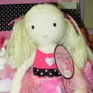 GUND BALLERINA DOLL BLONDE PLUSH SKIRT IS ALSO A HAIR TIE NEW WITH TAGS ARIANNA