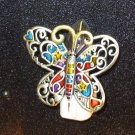 NITE LIGHT BUTTERFLY NIGHT LIGHT ENAMELED MULTI COLORED NEW HOME BEDROOM DECOR GANZ