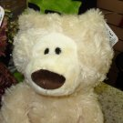 GUND PHILBIN BEAR CREAM COLORED PLUSH STUFFED ANIMAL NEW WITH TAGS 13 INCH