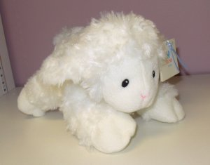 GUND LAMB JESUS LOVES ME GUND BABY NEW WITH TAGS WHITE 7 INCH