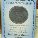 POCKET TOKEN COMPANIONSHIP TO COIN A QUOTE NEW GANZ INSPIRE ENRICH MESSAGE ON A COIN