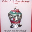 SUNCATCHER CUPCAKE COLOR ART BY GANZ NEW ENAMELED PEWTER