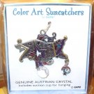 SUNCATCHER FISH COLOR ART BY GANZ NEW ENAMELED PEWTER