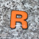 INITIAL MAGNET LETTER R ORANGE  AND BLACK SOFT RUBBER NEW