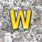 INITIAL MAGNET LETTER W YELLOW AND BLACK SOFT RUBBER NEW