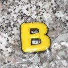 INITIAL MAGNET LETTER B YELLOW AND BLACK SOFT RUBBER NEW