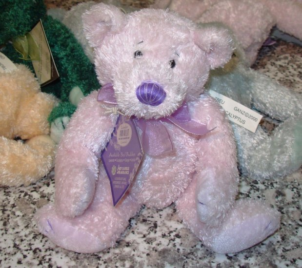 LANDER BED BUDDIES TEDDYBEAR PLUSH STUFFED ANIMAL NEW GANZ 2000 RETREAT AROMATHERAPY RETIRED