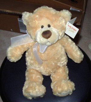 NEW RETIRED GUND MANNI ANGEL SOFT LITTLE BEAR PLUSH STUFFED ANIMAL NEW WITH TAGS