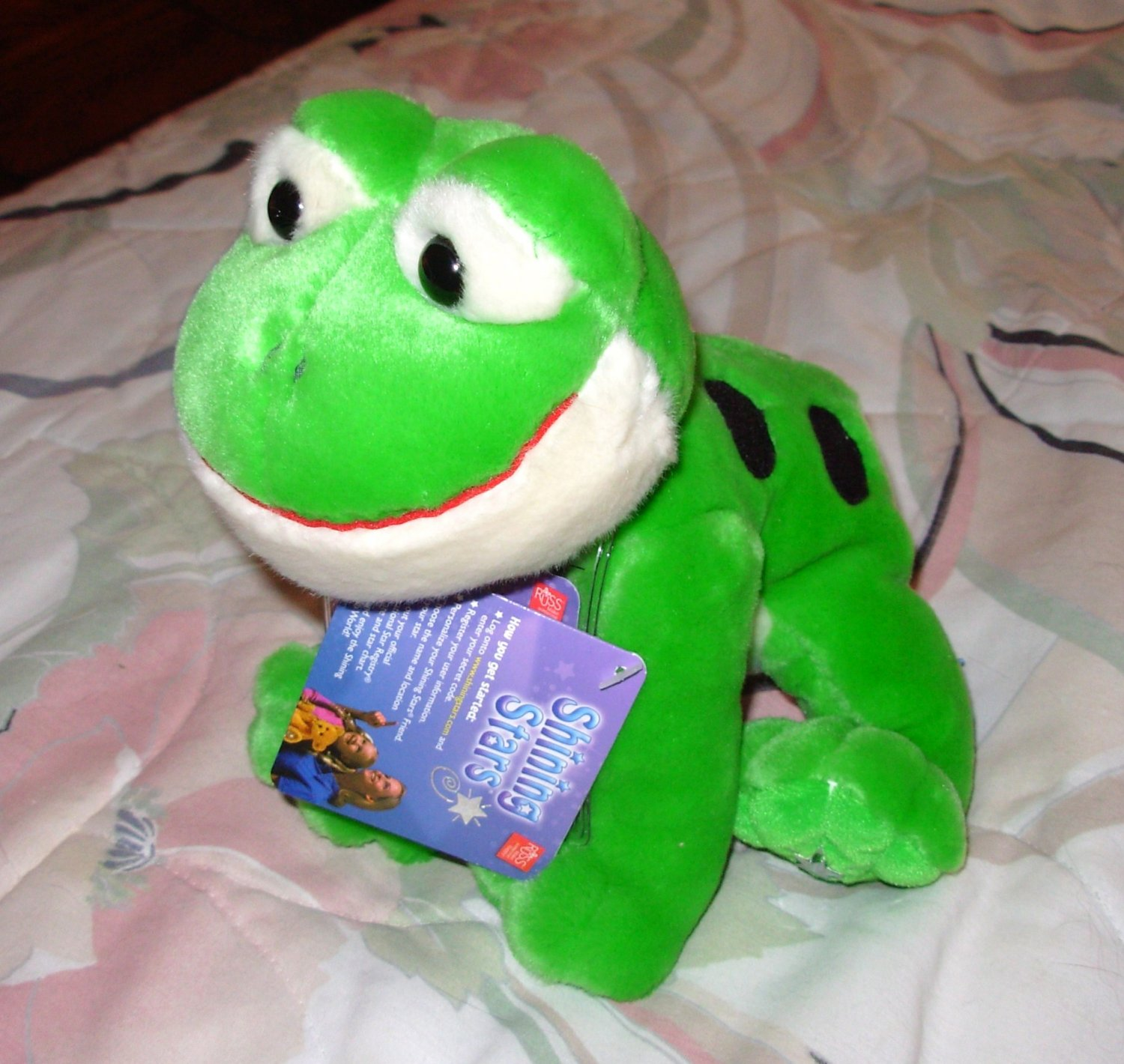 SHINING STAR FROG VIRTUAL PET NEW RUSS BERRIE STUFFED PLUSH ANIMAL