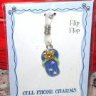 CHARM FLIP FLOPS CELL PHONE PURSE CHARM NEW GANZ