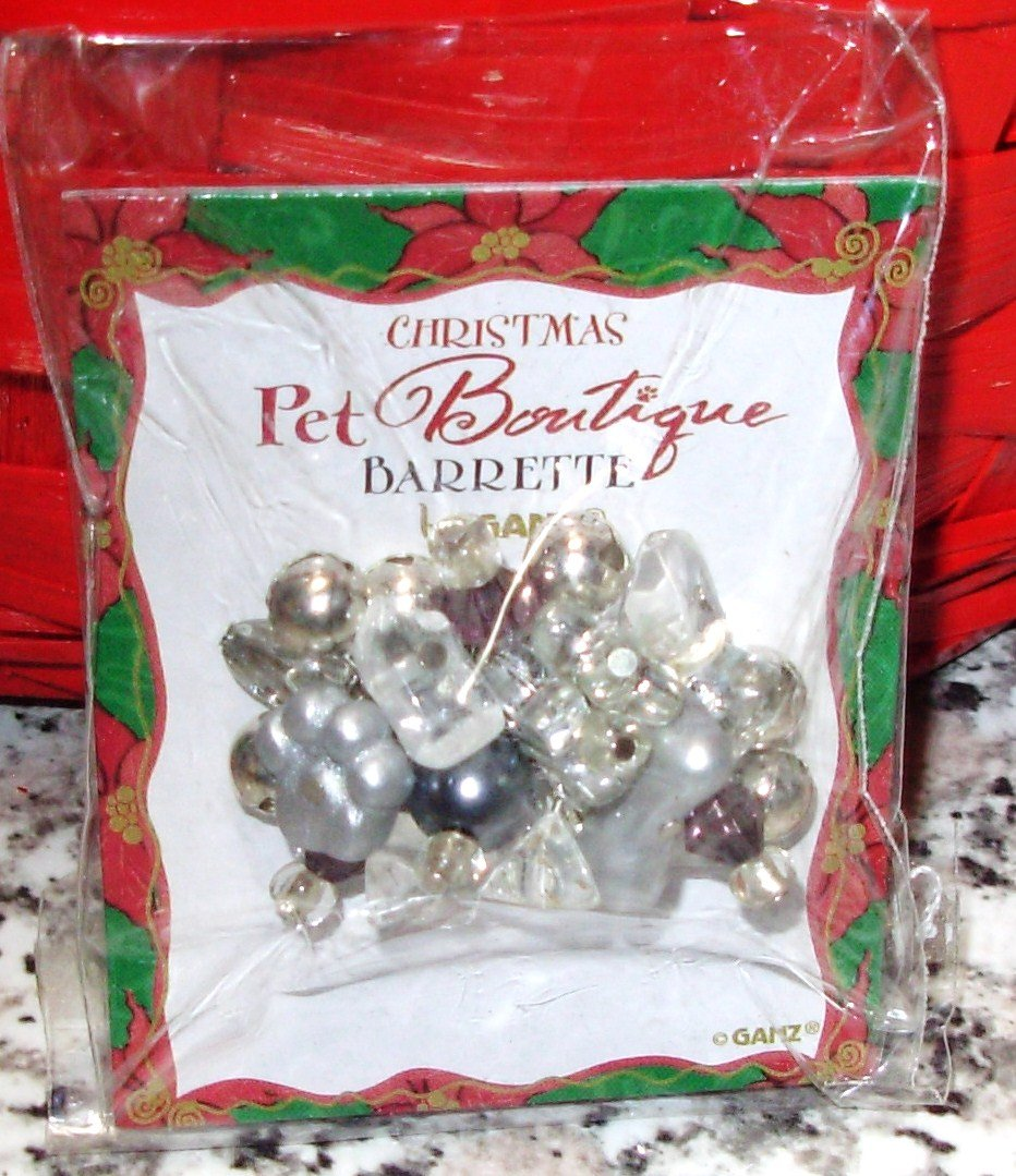 PET BOUTIQUE BARETTE NEW GANZ FUR BABY JEWELRY FOR THE HOLIDAYS