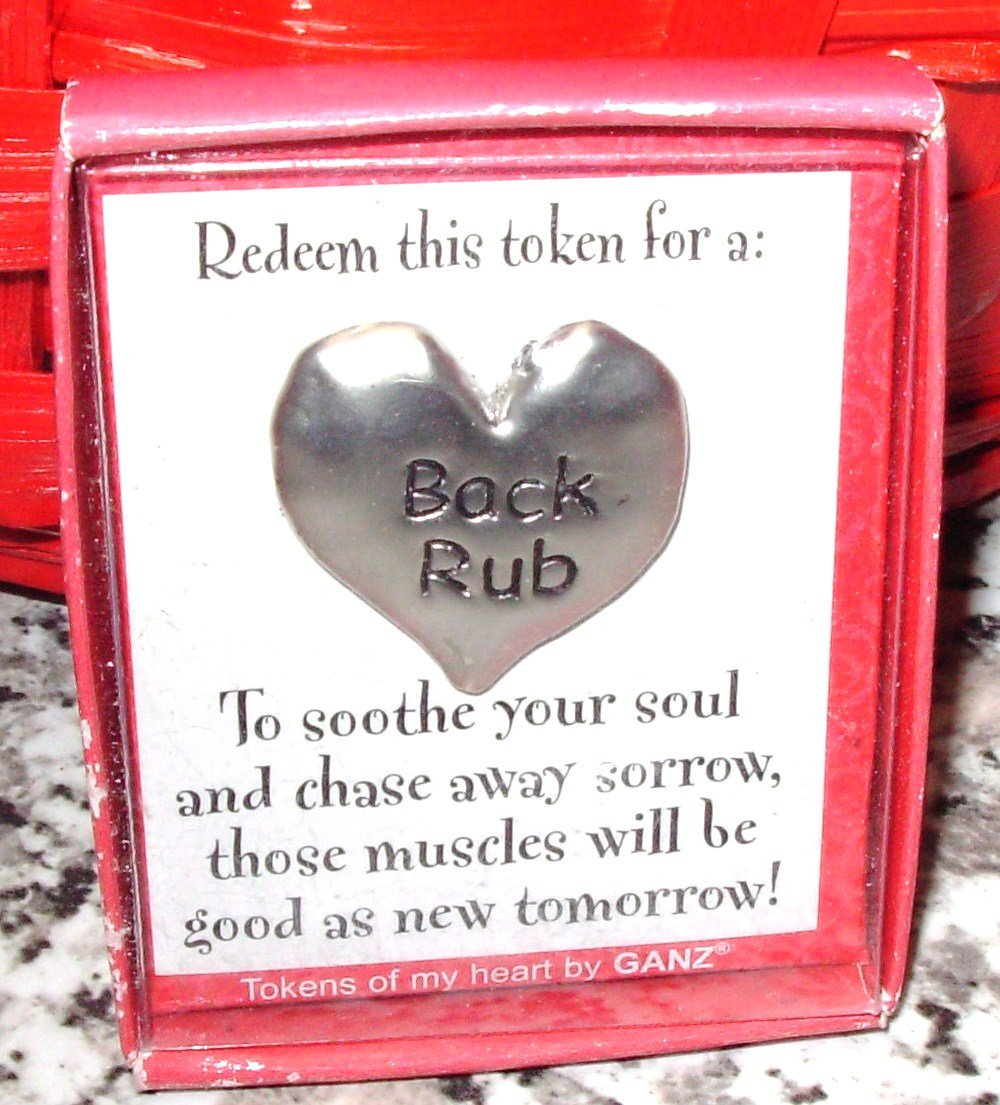 HEART TOKEN ALTERNATIVE TO A CARD REDEEM FOR BACK RUB GIFT ITEM NEW GANZ