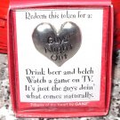 GUYS NIGHT OUT HEART TOKEN REDEEMABLE GIFT ITEM NEW GANZ