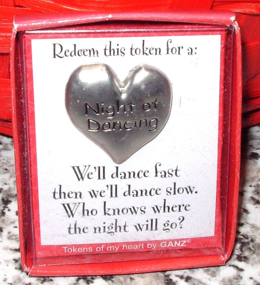 NIGHT OF DANCING HEART TOKEN REDEEMABLE GIFT ITEM NEW GANZ