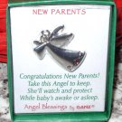 NEW PARENTS ANGEL BLESSINGS BY GANZ ANGEL PENDANT WITH CRYSTAL NEW GIFT JEWELRY ITEM
