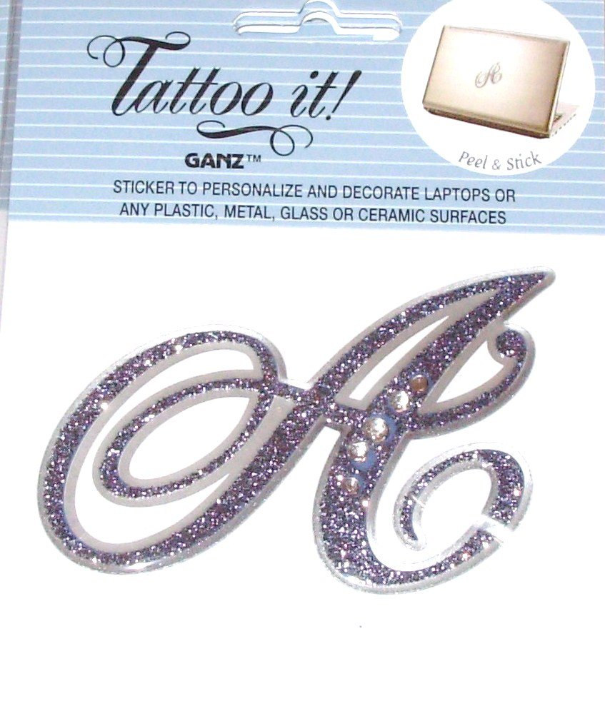 LETTER A STICKER TATTOO IT PERSONALIZE DECORATE LAPTOPS NOTEBOOKS PLASTIC METAL GLASS REUSABLE GANZ
