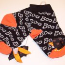 HALLOWEEN BABY SOCKS BOO PUMPKINS BOWS SIZE 0 TO 12 MONTHS NEW GANZ