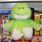 CORDUROY FROG BABY TOY RATTLE PLUSH NEW GANZ MACHINE WASHABLE