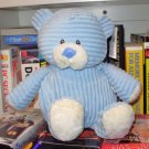 CORDUROY BLUE BEAR BABY TOY RATTLE PLUSH NEW GANZ MACHINE WASHABLE