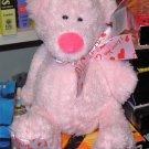 NEW MINI TUBBY TUMMIES BEAR SAYS I LOVE YOU LIGHT PINK TEDDYBEAR PLUSH GANZ