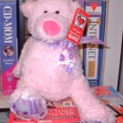 NEW MINI TUBBY TUMMIES BEAR SAYS FRIENDS FOREVER LIGHT PINK TEDDYBEAR PLUSH GANZ