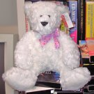 WHITE SWEETHEARTS BEAR PLUSH STUFFED ANIMAL NEW GANZ TEDDY BEAR TEDDYBEAR