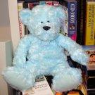 NEW SPRING TEDDY BEARS AQUA BEAR SOFT CURLY FUR 15 INCH PLUSH STUFFED ANIMAL