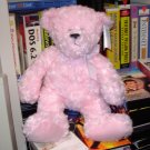NEW SPRING TEDDY BEARS PINK BEAR SOFT CURLY FUR 15 INCH PLUSH STUFFED ANIMAL