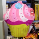 CUPCAKE PILLOW POLY KNIT BIRTH AND UP SURFACE WASHABLE NEW GANZ 12 INCH MULTI COLORED BRIGHT