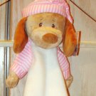 PUPPY DIAPER STACKER BABY GANZ PINK AND WHITE PUPPY IN PJS HOLDS 20 DIAPERS NEW WITH TAGS