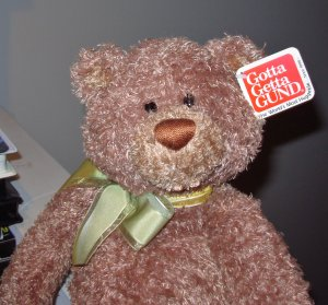 GUND BERKLY PLUSH STUFFED ANIMAL BEAR NEW WITH TAGS RETIRED