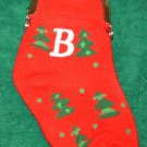 CHRISTMAS STOCKING COIN PURSE LETTER B CHRISTMAS TREES ORNAMENT NEW GANZ HOLIDAY GIFT DECOR