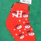 COIN PURSE INITIAL H CHRISTMAS STOCKING SNOWMAN ORNAMENT NEW GANZ HOLIDAY GIFT DECOR
