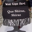WINE GLASS SKIRT QUE SHIRAZ SHIRAZ AD JUSTABLE WASHABLE NEW GANZ